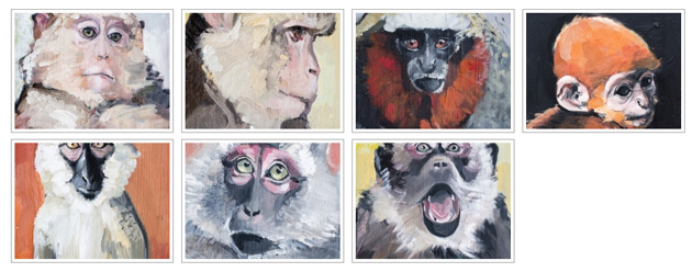 Monkey paintings for Fitzroy Knox
