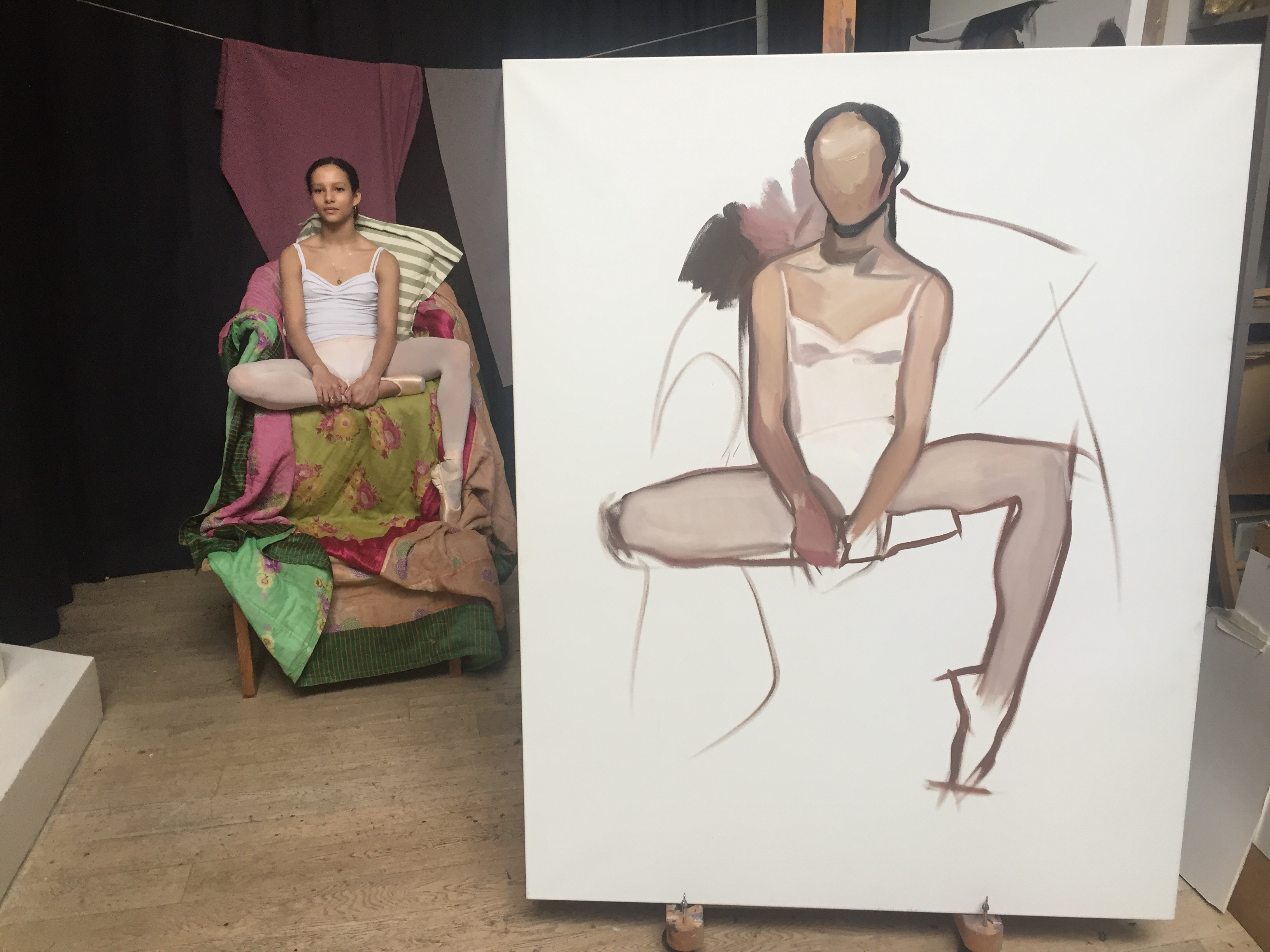 -Click to see the development of my portrait of ballerina Francesca Hayward